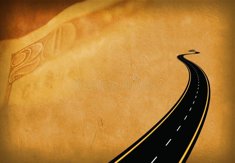 Dinheiro da estrada ilustração royalty free
