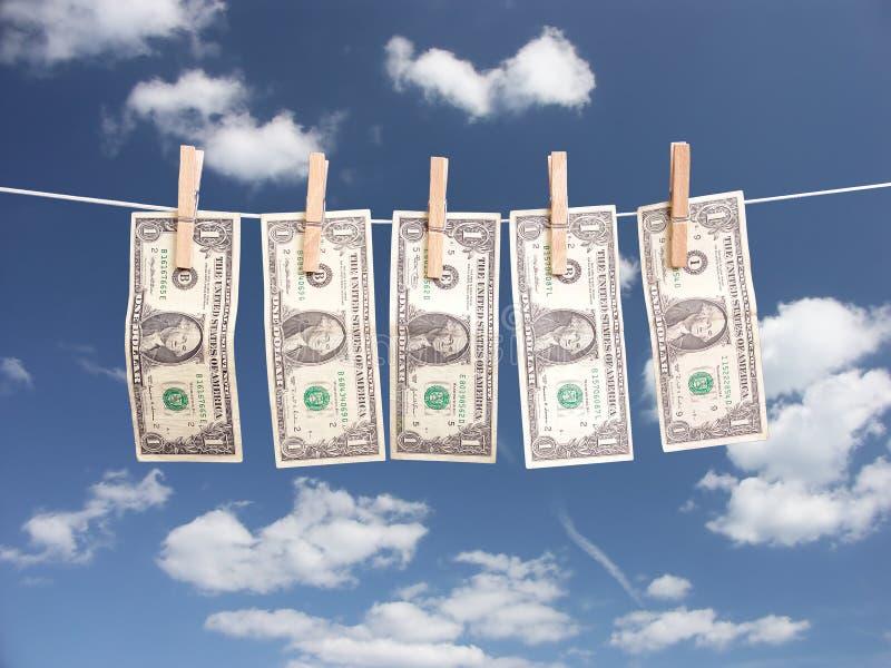 Dinheiro da lavanderia imagens de stock royalty free