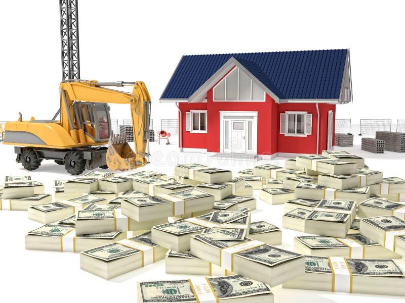 Dinheiro da necessidade da casa ilustração stock