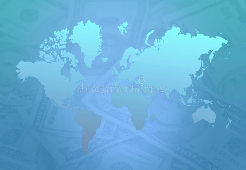 Dinheiro da terra ilustração royalty free