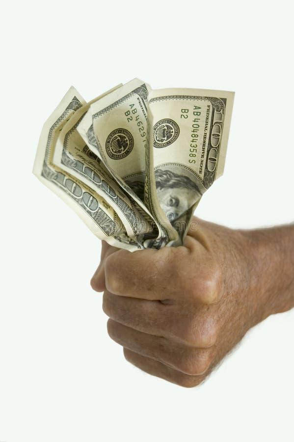 Dinheiro da terra arrendada da mão fotos de stock royalty free