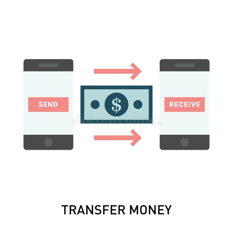 Dinheiro da transação do telefone Enviando e recebendo o dinheiro ilustração do vetor