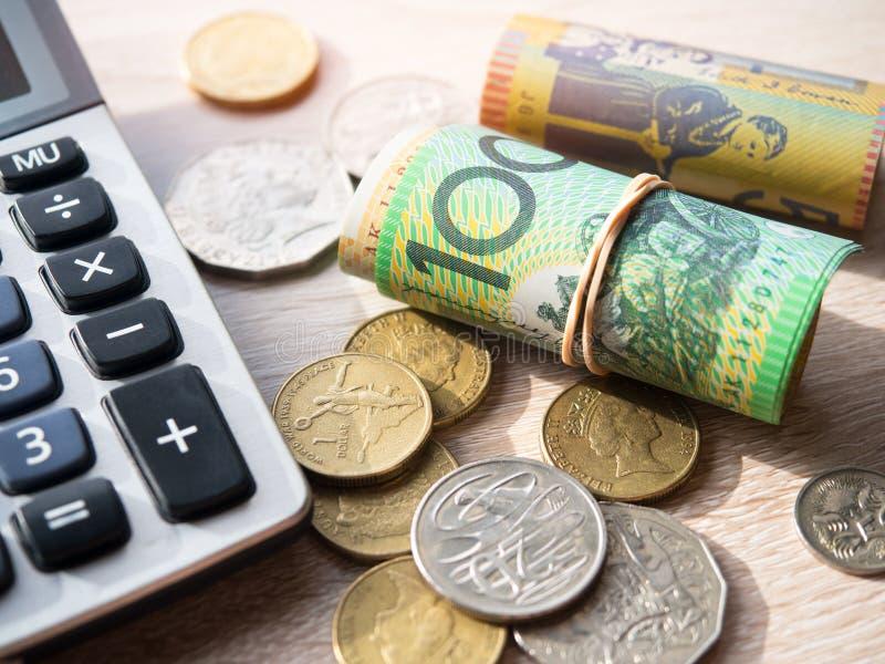 Dinheiro de Austrália do dólar imagens de stock royalty free