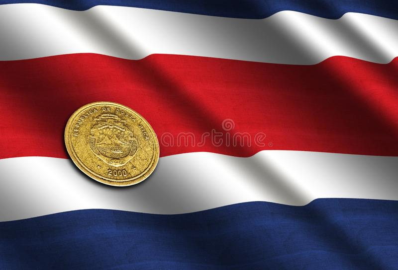 Dinheiro de Costa Rican na bandeira ilustração royalty free