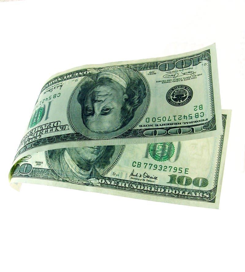 Dinheiro de flutuação imagens de stock royalty free