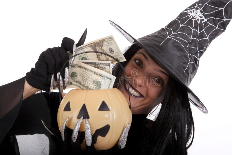 Dinheiro de Halloween imagem de stock royalty free