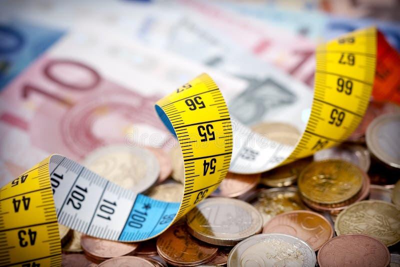 Dinheiro de medição foto de stock