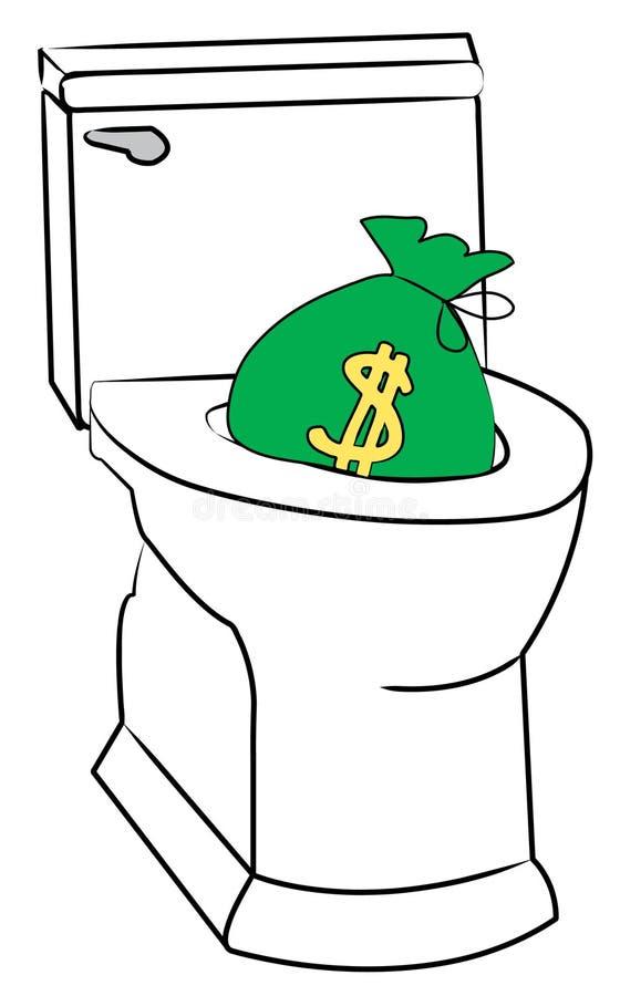 Dinheiro de nivelamento ilustração stock