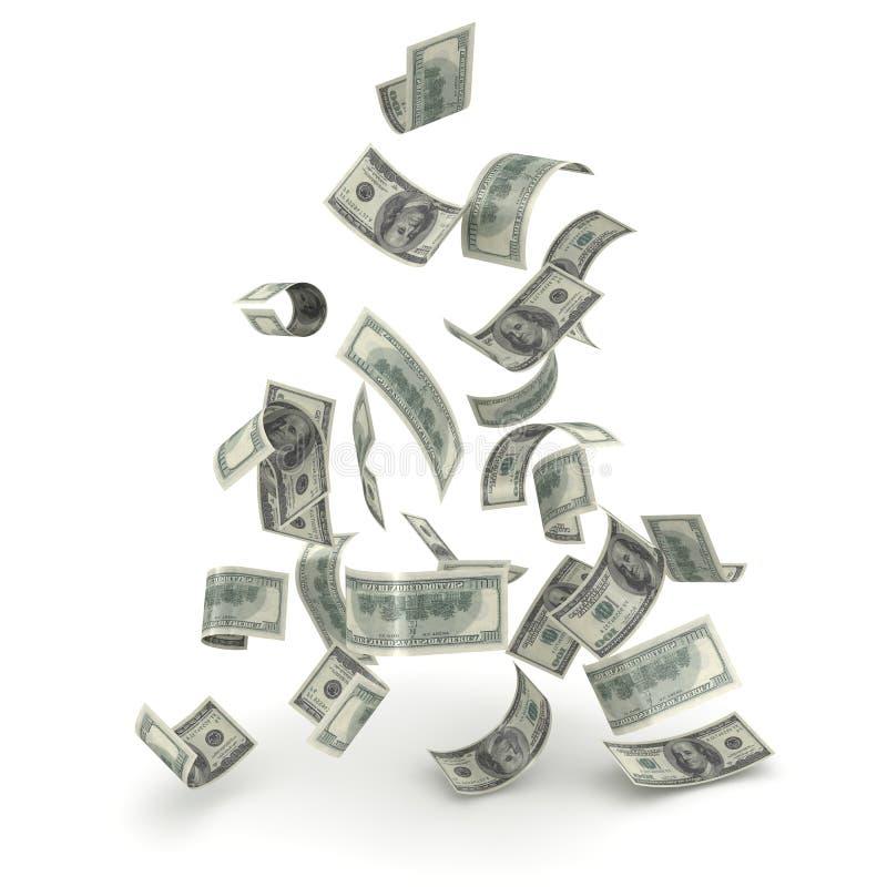 Dinheiro de queda ilustração do vetor