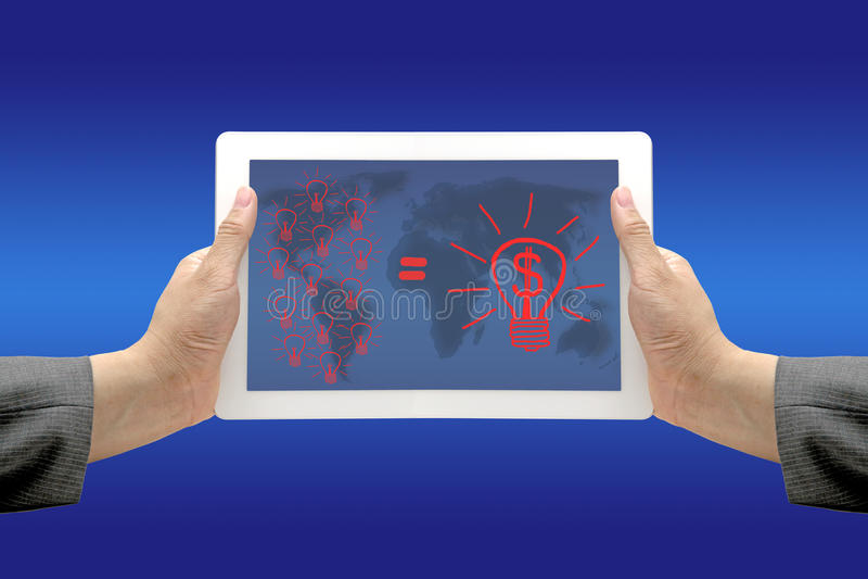 Dinheiro do Brainstorm da inovação fotos de stock royalty free