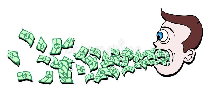 Dinheiro do divertimento ilustração royalty free