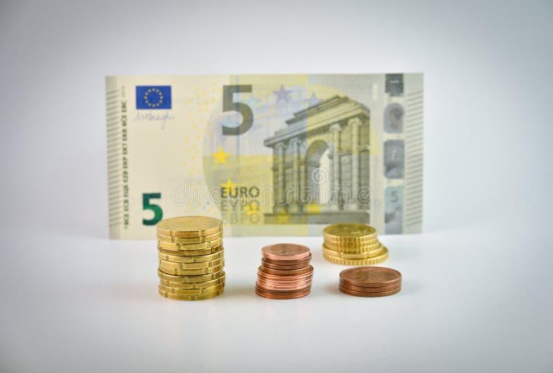 Dinheiro do euro da pequena alteração imagem de stock royalty free