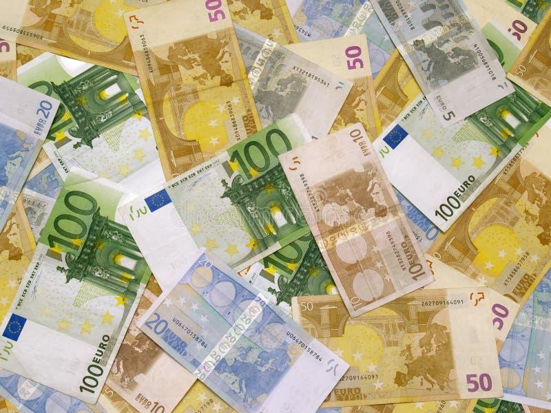 Dinheiro do euro do fundo foto de stock royalty free
