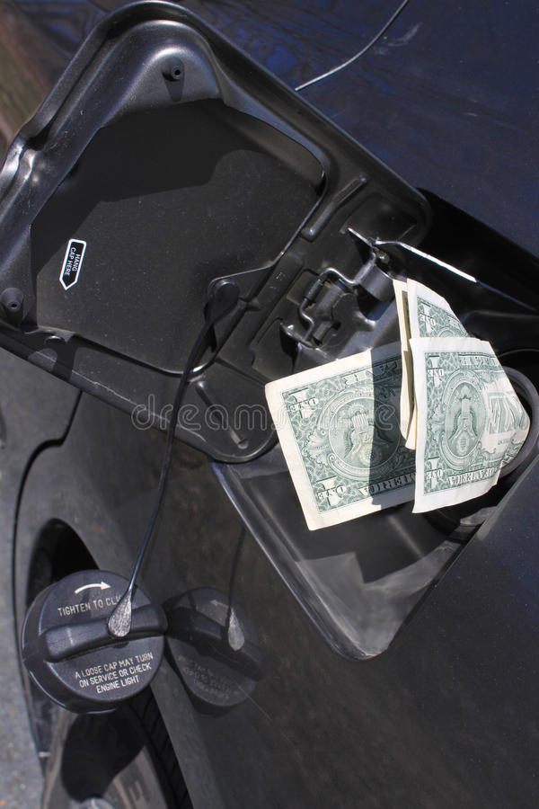 Dinheiro do gás fotografia de stock