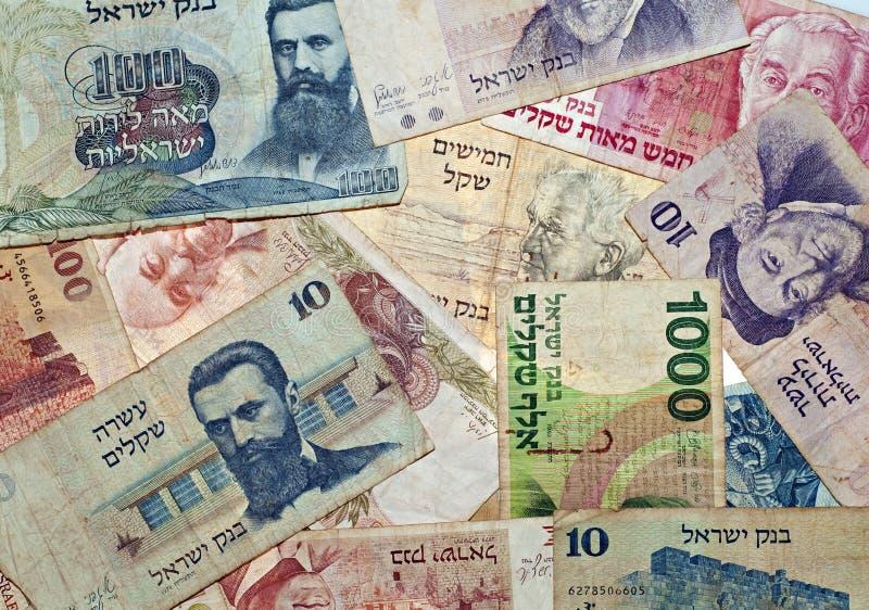 Dinheiro do israeli do vintage imagem de stock