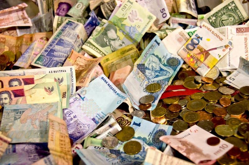 Dinheiro do mundo imagens de stock