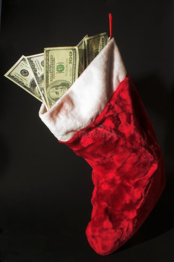 Dinheiro do Natal foto de stock