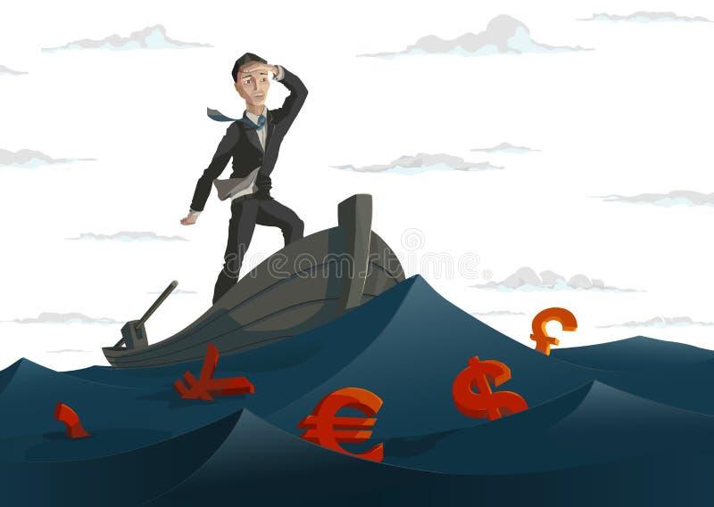 Dinheiro do oceano ilustração do vetor