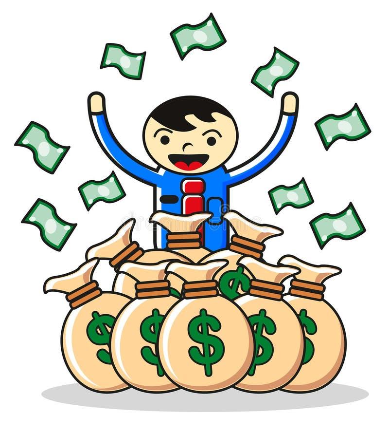 Dinheiro do salário ilustração do vetor