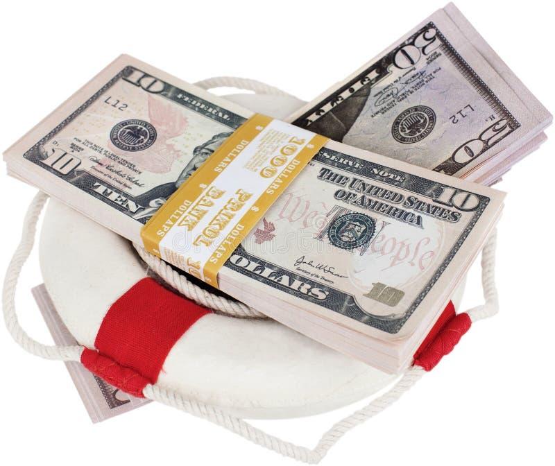 Dinheiro do surroung do anel de vida - conceito do momey da economia foto de stock royalty free