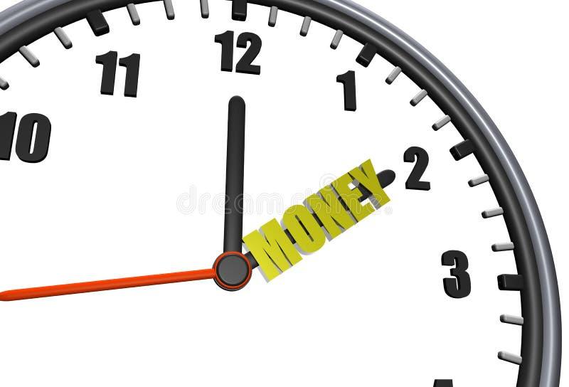 Dinheiro do tempo ilustração do vetor