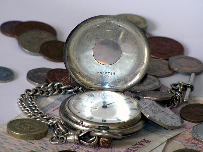 Dinheiro do tempo imagens de stock
