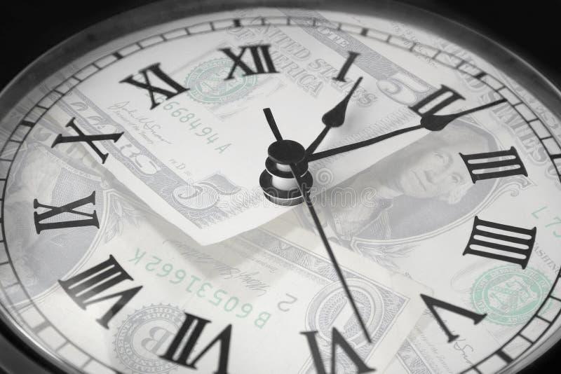 Dinheiro do tempo imagem de stock