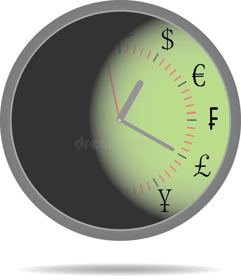 Dinheiro do tempo ilustração stock