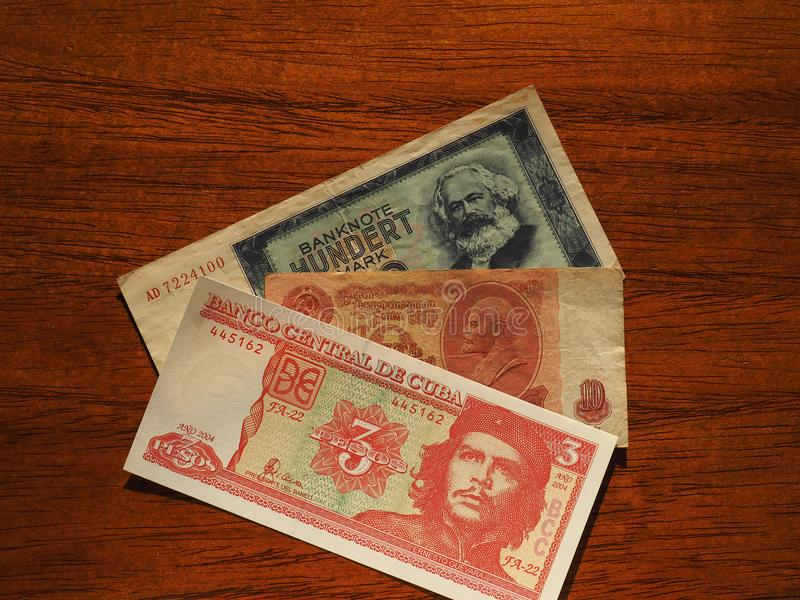 dinheiro do vintage de países comunistas foto de stock royalty free