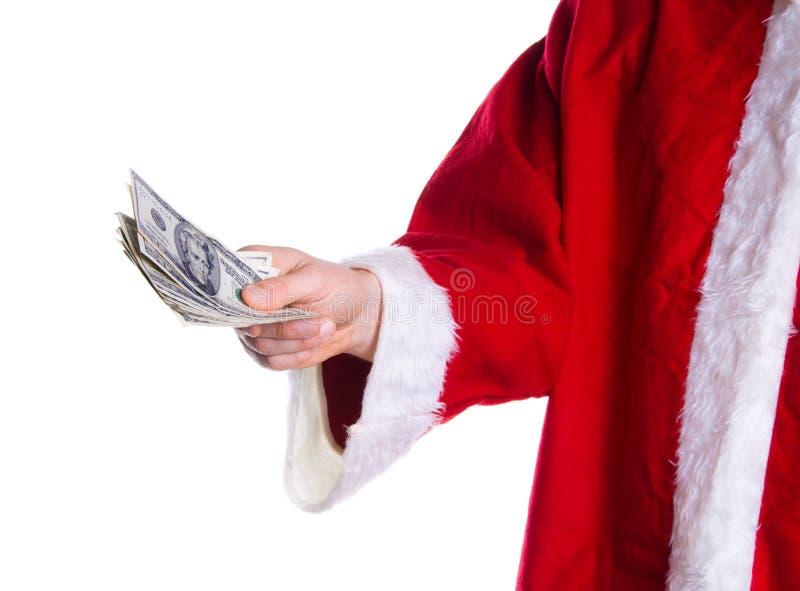 Dinheiro do Xmas imagem de stock