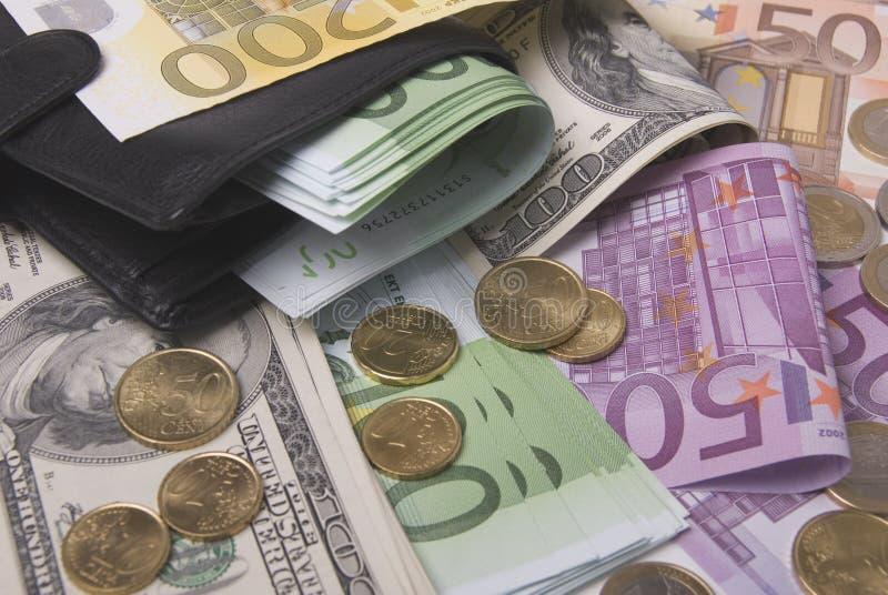 Dinheiro e bolsa foto de stock royalty free