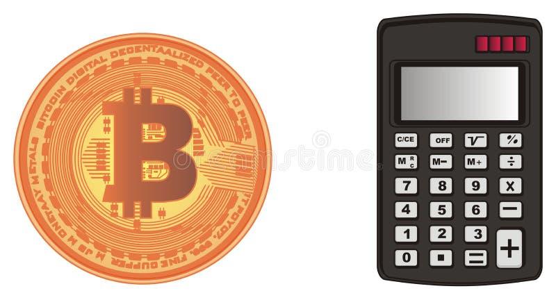 Dinheiro e calculadora ilustração do vetor