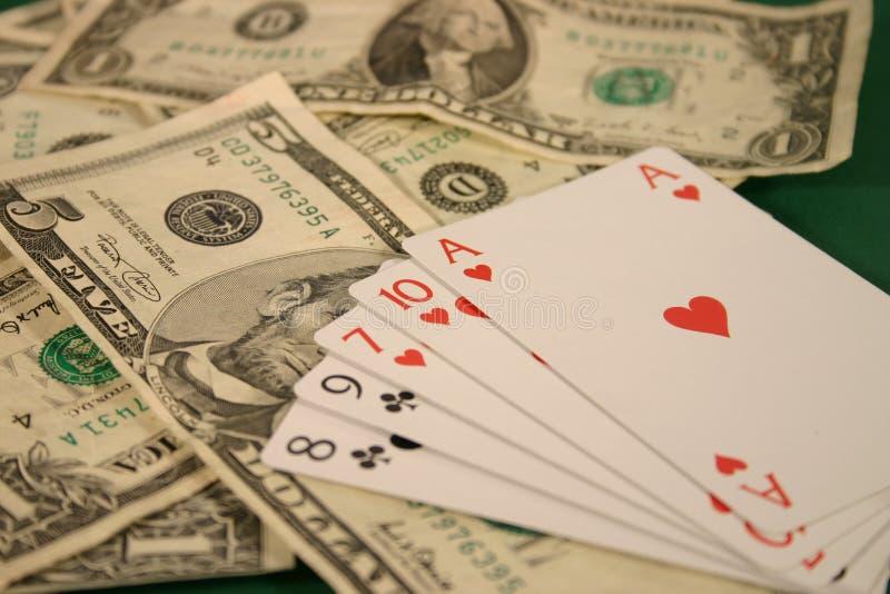 Dinheiro E Cartões Foto de Stock