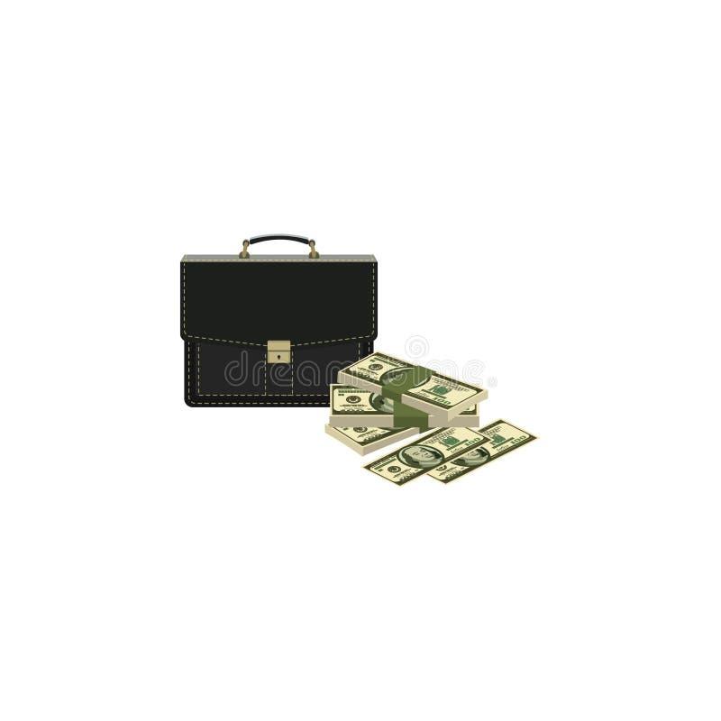 Dinheiro e caso ilustração royalty free