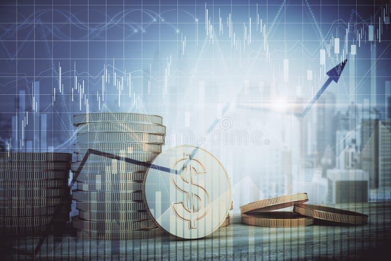 Dinheiro e conceito da finan?a ilustração stock