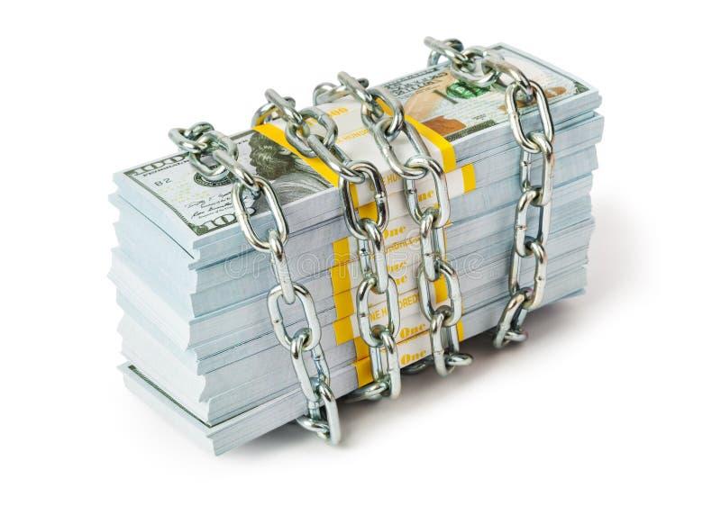 Dinheiro e corrente fotos de stock