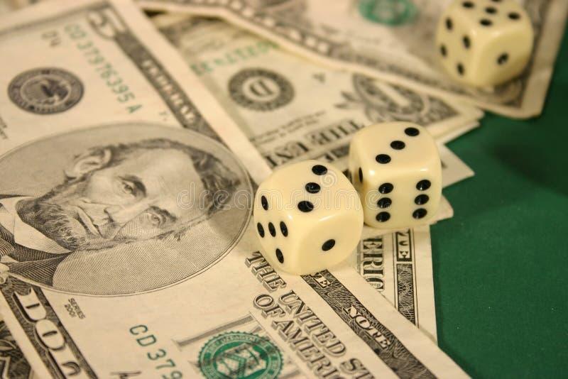 Dinheiro e dados foto de stock royalty free