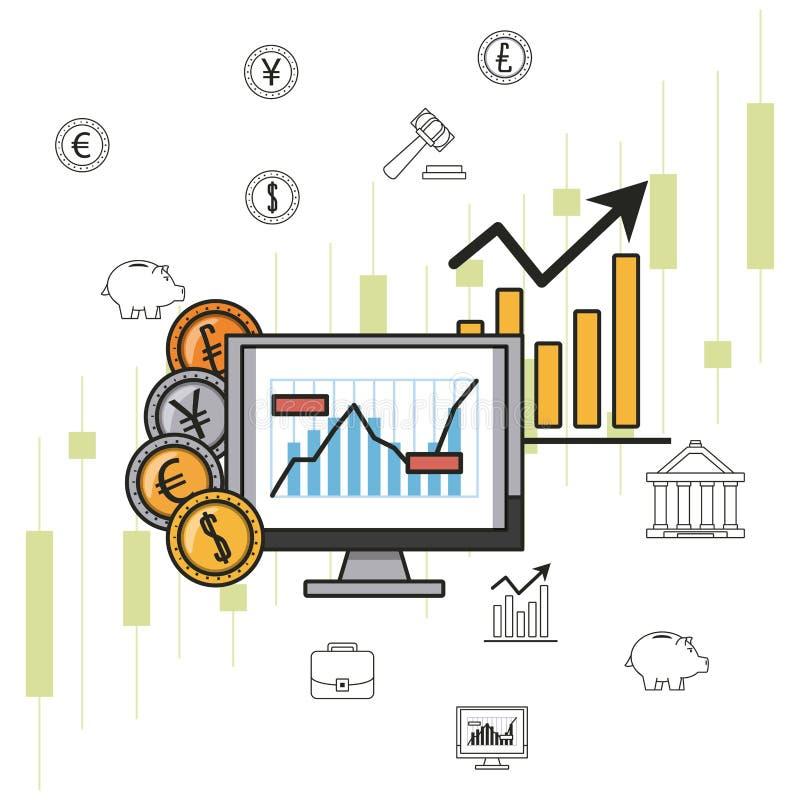 Dinheiro e investimentos do negócio ilustração royalty free
