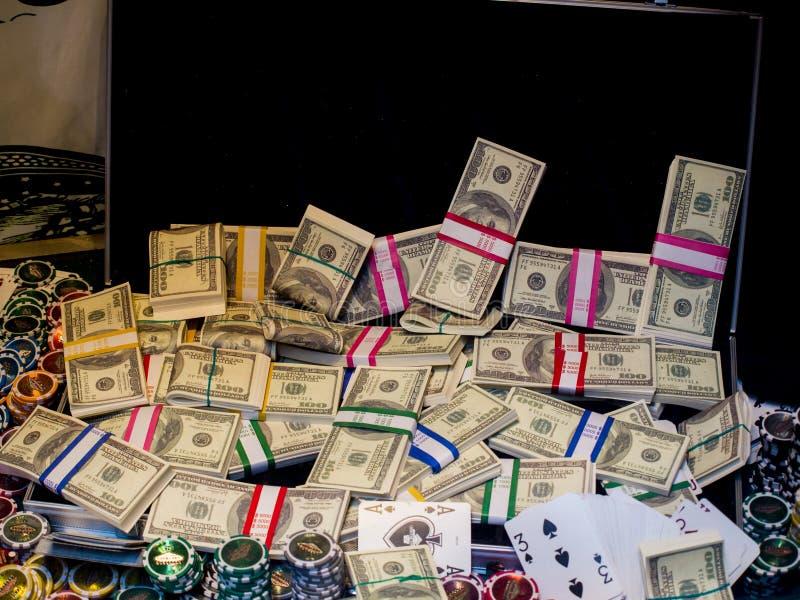 Dinheiro e jogo fotografia de stock royalty free