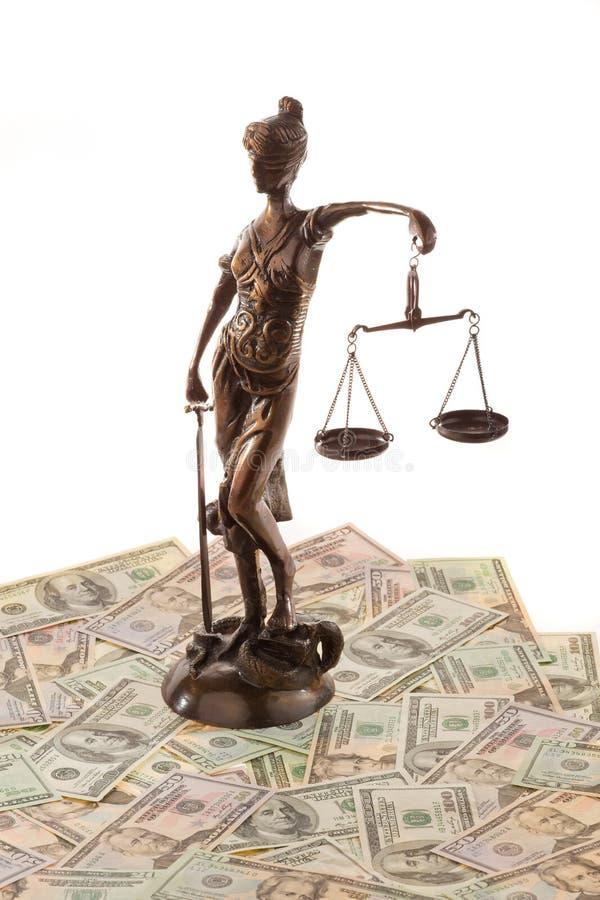 Dinheiro e justiça imagens de stock royalty free