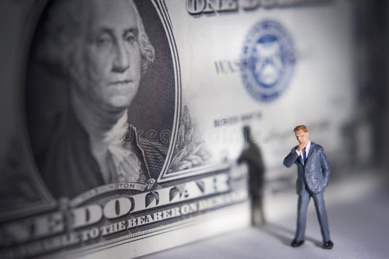 Dinheiro em sua mente? fotografia de stock