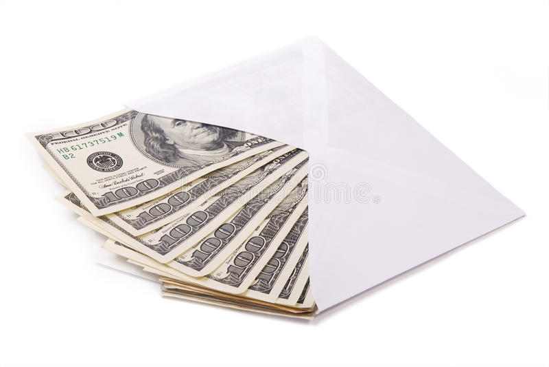 Dinheiro em um envelope fotografia de stock royalty free