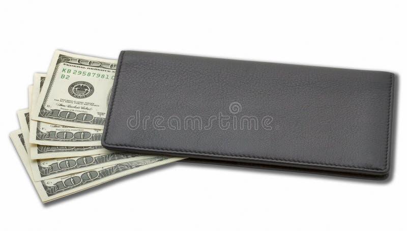 Dinheiro em uma bolsa imagem de stock