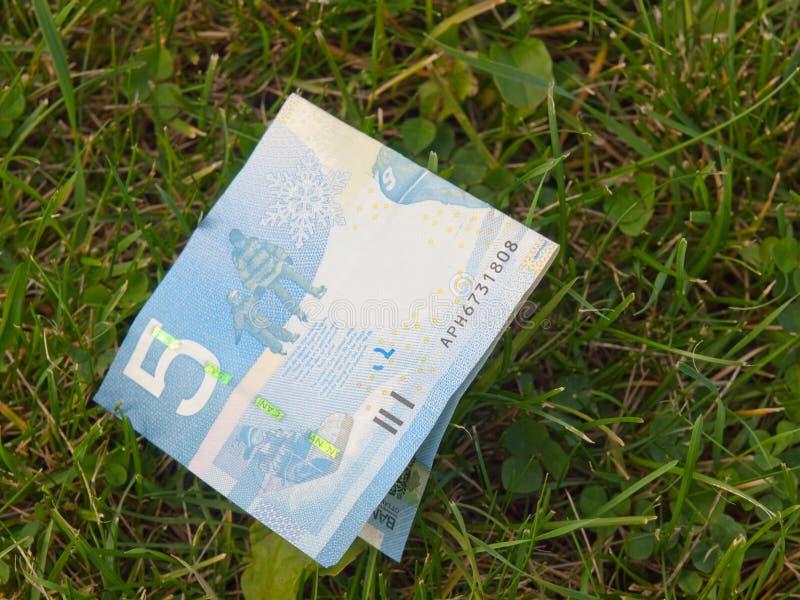 Dinheiro encontrado fotografia de stock
