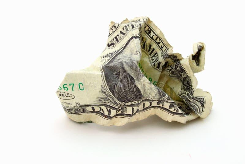 Dinheiro enrugado foto de stock royalty free