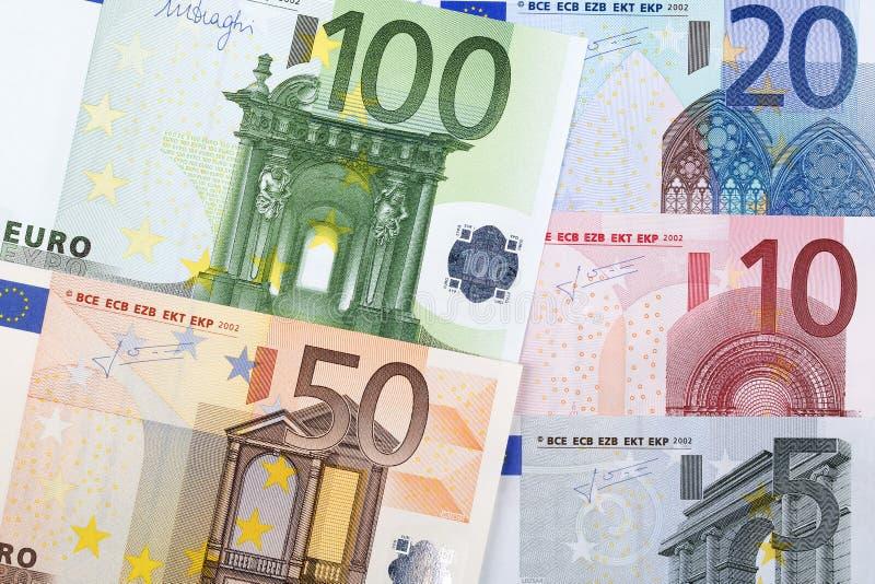 Dinheiro europeu, um bacground fotos de stock royalty free