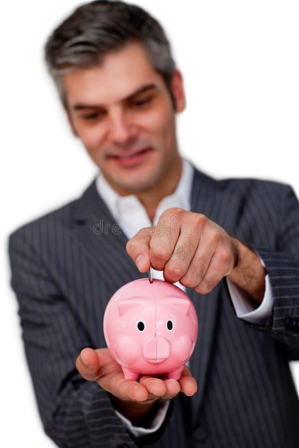 Dinheiro executivo masculino sofisticado da economia fotos de stock royalty free