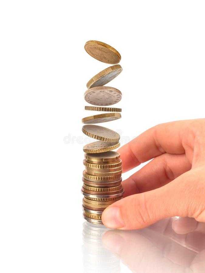 Dinheiro, financeiro, conceito do crescimento do negócio, imagem de stock