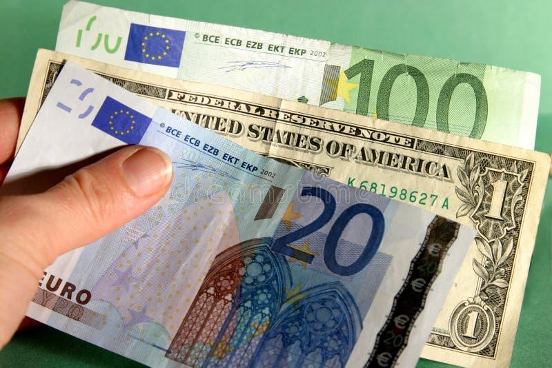 Dinheiro internacional foto de stock