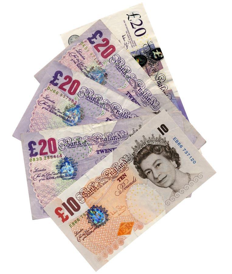 Dinheiro: Libras britânicas imagem de stock royalty free